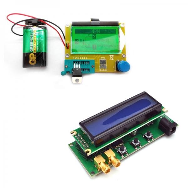 Тестер параметров и исправности электронных компонентов (R/L/C, N/P/M, ESR) + Двухдиапазонный частотомер