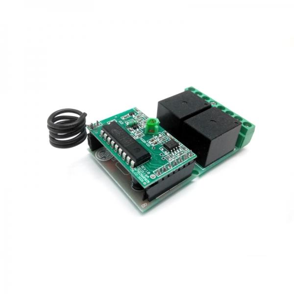 Приемник для пульта ДУ 433 МГц MP910 (режим кнопки, два реле по 2 кВт 10А)