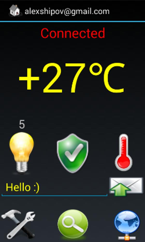 Экран приложения