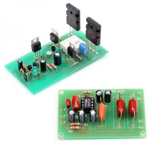Набор для сборки оконечного усилителя НЧ 100 Вт + NM0103 Набор для сборки фильтра низких частот для сабвуфера (ФНЧ)