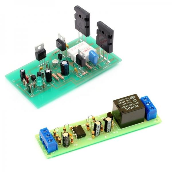 Набор для сборки оконечного усилителя НЧ 100 Вт + Набор для сборки автоматического выключателя электроприборов