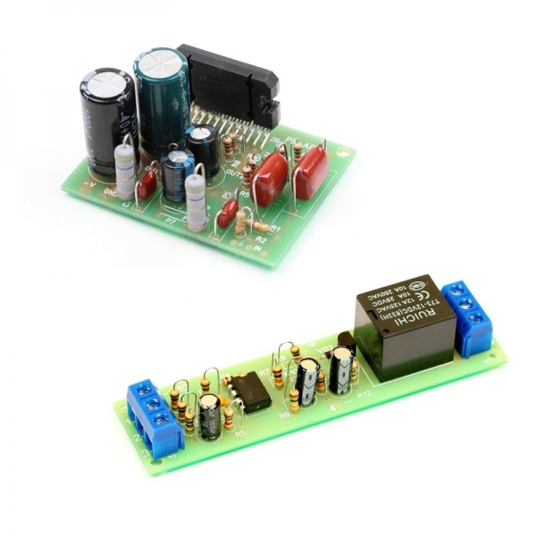 Набор для сборки оконечного УНЧ 2х60 Вт + Набор для сборки автоматического выключателя электроприборов