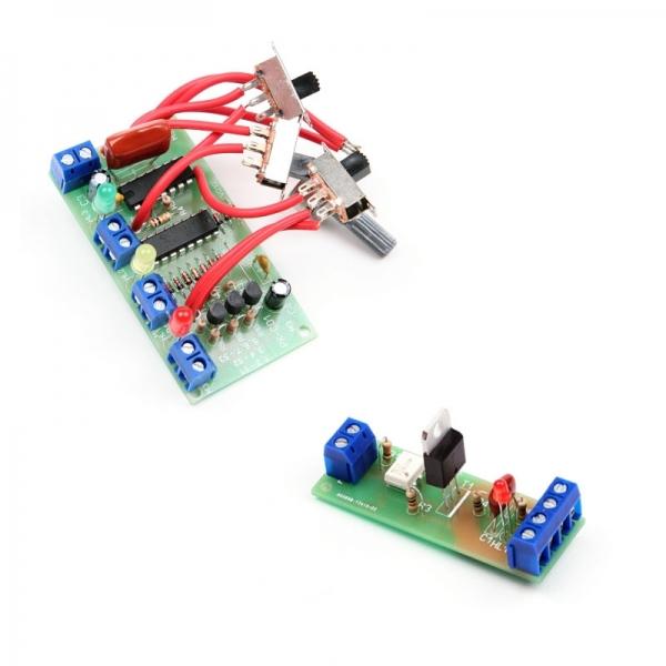 """Набор для пайки """"Светофор"""" + 3 Набора для сборки модуля коммутации силовой нагрузки 2.2кВт 220В"""