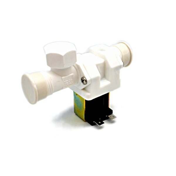 """Электромагнитный водопроводный клапан (пластик, ½ """", 50С, 220В, нормально закрытый)"""