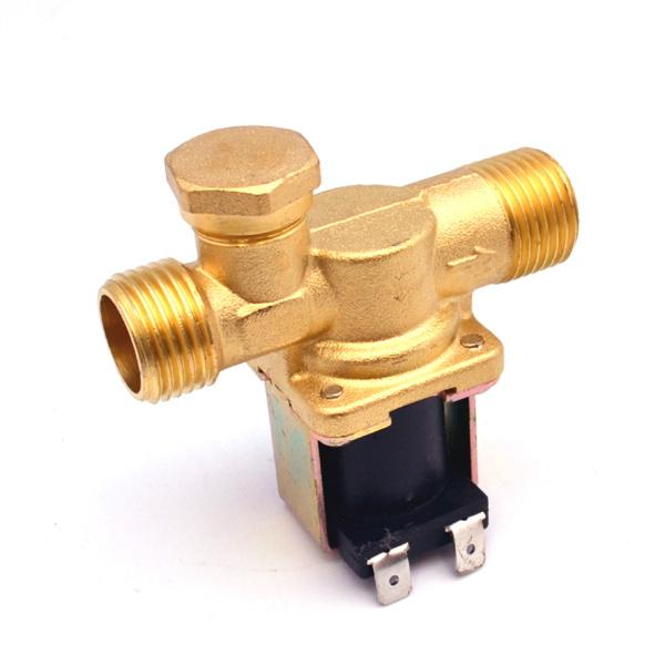 """Электромагнитный водопроводный клапан (бронза, ½"""",130C, =12В, нормально закрытый)"""