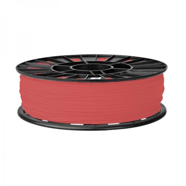 PLA катушка 1.75мм, 1кг Пластик для 3D печати. Красный полупрозрачный