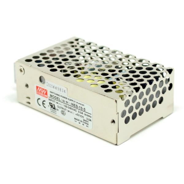 Источник питания импульсный NES-15-5, 5В, 3А в корпусе
