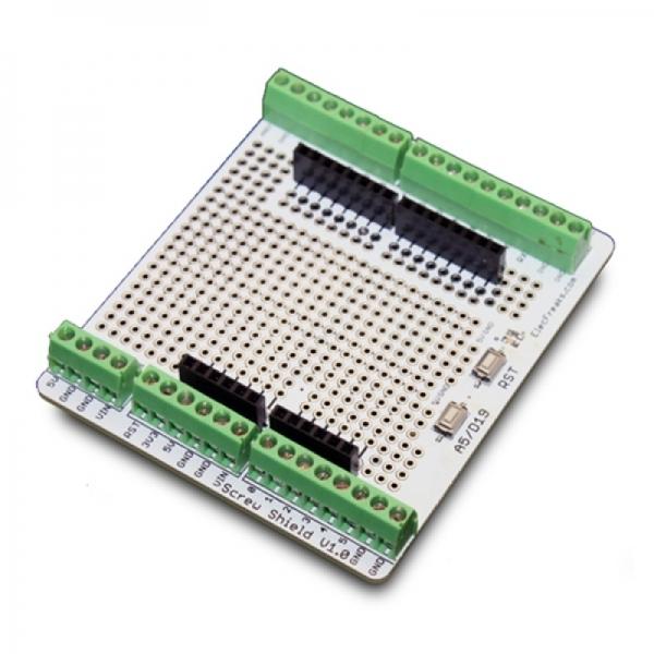Винтовые разъёмы и макетная панель. Плата-расширение для Arduino.