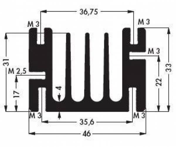 Радиатор SK 68 75 SA (эф. площадь 400 см2)