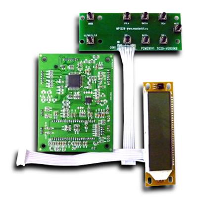 MP1235 - Предварительный усилитель-темброблок с выходом на сабвуфер, микроконтроллерным управлением, ЖКИ и пультом ДУ
