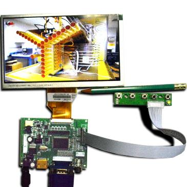 MP2907 HDMI+VGA+2AV - Цветной монитор 7', 1024x 600 HDMI, VGA, 2хAV, LVDS