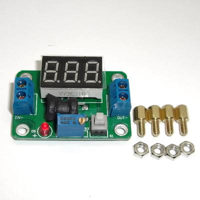 PW24-1-2D - Понижающий преобразователь напряжения с встроенным вольтметром.