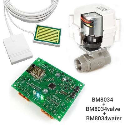 BM8034 + BM8034valve + BM8034water - Устройство для сбора и передачи данных + Шаровой кран с электроприводом универсальный + Датчик протечки воды универсальный