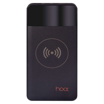 FB0141 (B) - Внешний аккумулятор с беспроводной зарядкой Hoox Aura 10000 (черный)