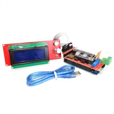 3D Smart Controller - Плата внешнего управления 3D-принтером. Энкодер, SD-карта и ЖК-дисплей 20x4
