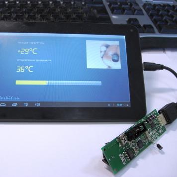 MK8900 - USB часы реального времени (RTC) и термометр для Windows РC, Android смартфонов и планшетов