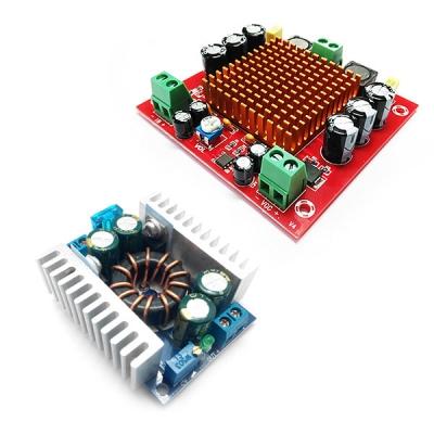 MP3116btl + PW842  - Усилитель НЧ D-класса 1х150Вт + повышающий DC/DC преобразователь напряжения 8A