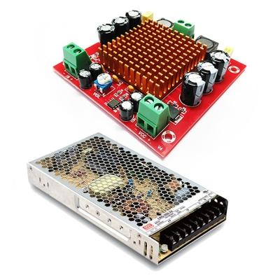MP3116btl + LRS-200-24 - Усилитель НЧ D-класс 1х150Вт + источник питания 24В / 200Вт / 8,8A