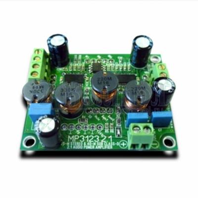 MP3123_2.1 - Цифровой усилитель D-класса (100 Вт) 2 х 25 Вт + 1 х 50 Вт (сабвуфер).