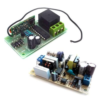 MP912 + PW1245 - Приемник для пульта ДУ 433 МГц + источник питания