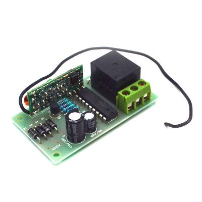 MP912 - Приемник для пульта ДУ 433 МГц MP910 (режим триггер, одно реле до 2 кВт 10А)