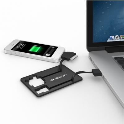 MT1099 Black - Портативное зарядное устройство Power-флешка 8 Гб