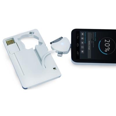 MT1099 White - Портативное зарядное устройство Power-флешка 8 Гб