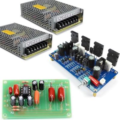 NM2012M + NM0103 + 2 шт. NES-100 - Набор для сборки Hi-Fi УНЧ, 200 Вт (моно) + Набор для сборки ФНЧ для сабвуфера + Источник питания 48В / 100Вт / 2,3A