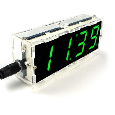 NM7039box - Настольные DIY часы -  набор радиолюбителя для пайки и сборки настольных часов