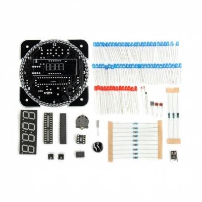 NM8017 - Электронные часы на светодиодах с будильником и датчиком температуры - набор для пайки
