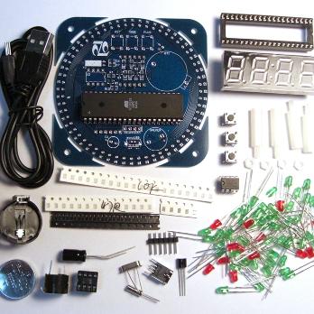 NM8018 - Электронные часы на светодиодах с будильником