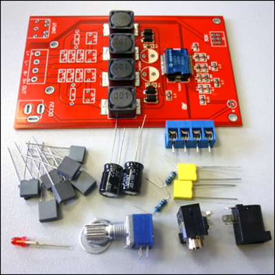 NT1291 - Набор для сборки цифрового усилителя T-класса (Tripath), 2 x 15 Вт.