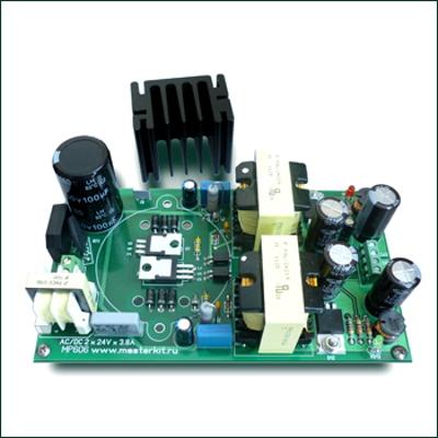 NT606 - Двухполярный сетевой источник питания ± 24 В, 190 Вт (набор для самостоятельной пайки)
