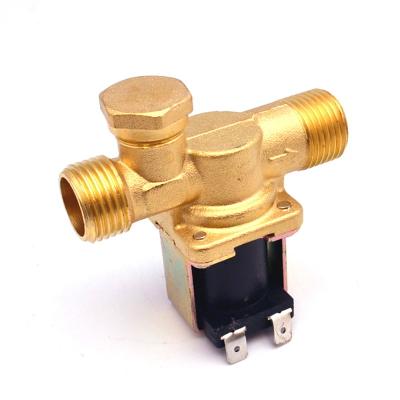 """NT8078 DC12V - Электромагнитный водопроводный клапан (бронза, ½"""",130C, =12В, нормально закрытый)"""