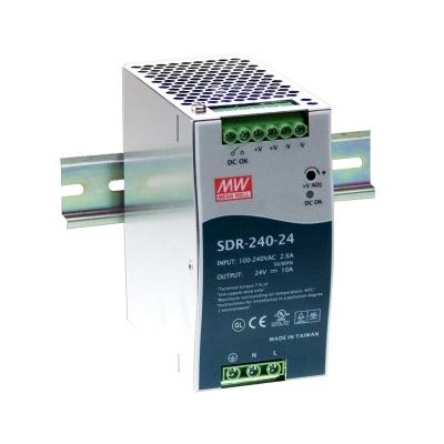 SDR-240-24 - Источник питания на DIN рейку 24...28В / 10А