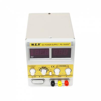 W.E.P 1502DD+ - Лабораторный источник питания 15В / 2А (одноканальный)