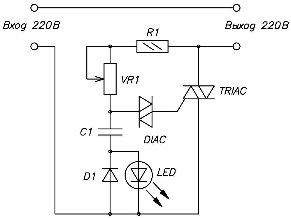 Схема - NF246 - Регулятор мощности 1000Вт (4,5А)/ 220В