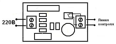 Подключение - MP220V - Датчик контроля сетевого напряжения с опторазвязкой
