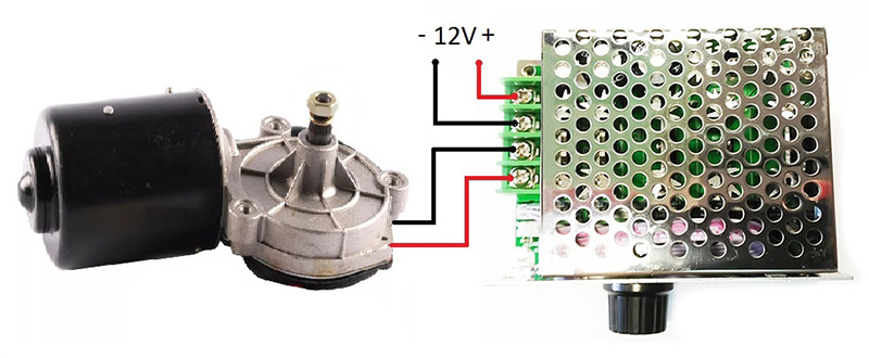 Схема - MP301M - ШИМ регулятор мощности 12-80В / 30А в корпусе с радиатором и дисплеем