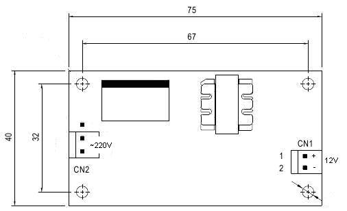 Схема - PW1245 - AC/DC Импульсный источник питания 12В / 0.5А