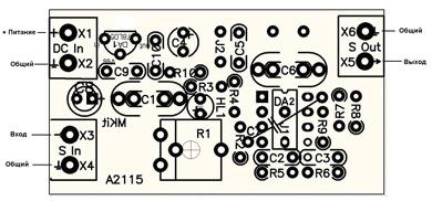 Монтажная схема - BM2115 - Активный фильтр НЧ для сабвуфера