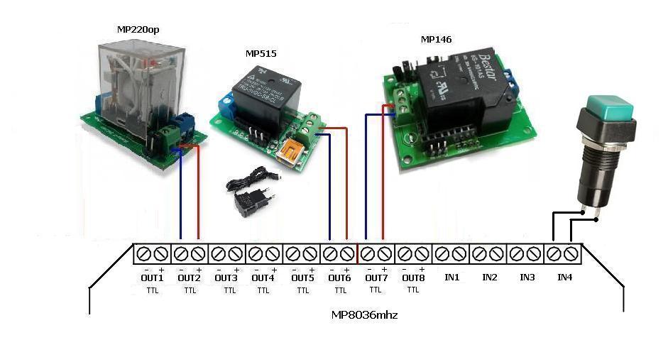 Схема - MP8036mhz - Сканер беспроводных устройств диапазона 433 МГц