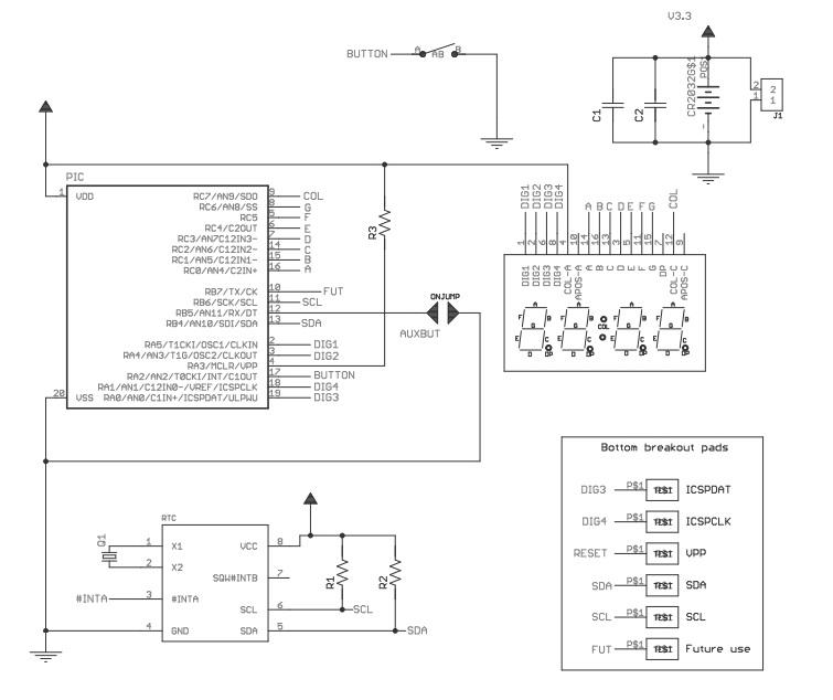 Электрическая схема - NM5040box - Набор радиолюбителя для сборки наручных DIY часов