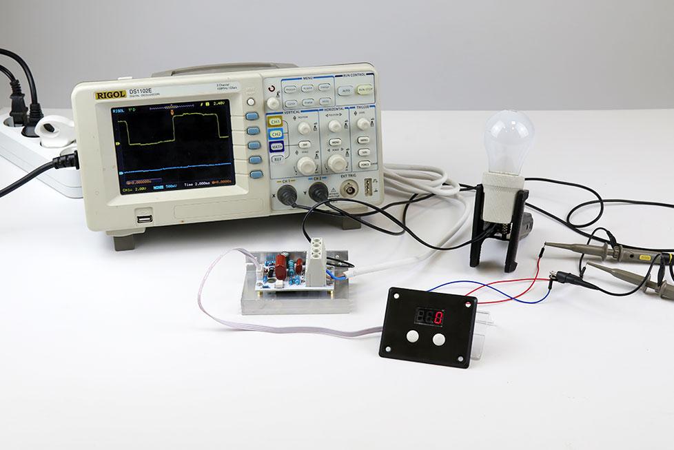 симисторный регулятор мощности MK071M 220В 10 кВт Мастер Кит тест
