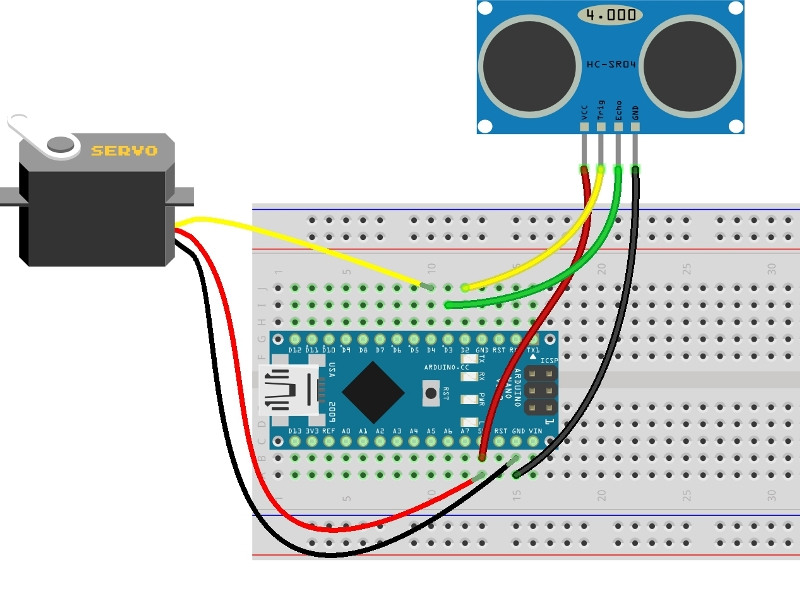 Схема - MP562 - Высокоточный ультразвуковой датчик расстояния без